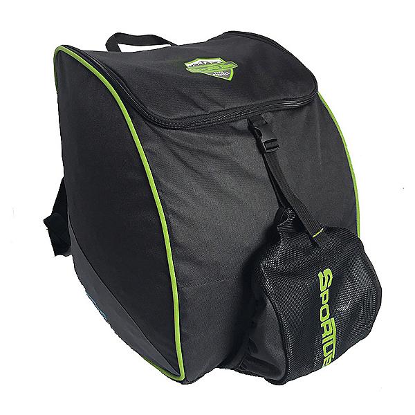 Sportube Adventurer Ski Boot Bag, Black-Green, 600