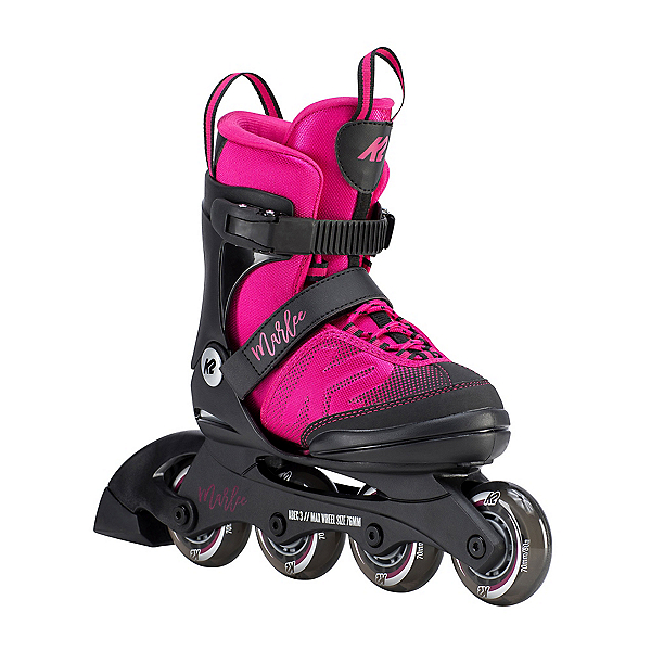 K2 Marlee Adjustable Girls Inline Skates 2020, Magenta, 600