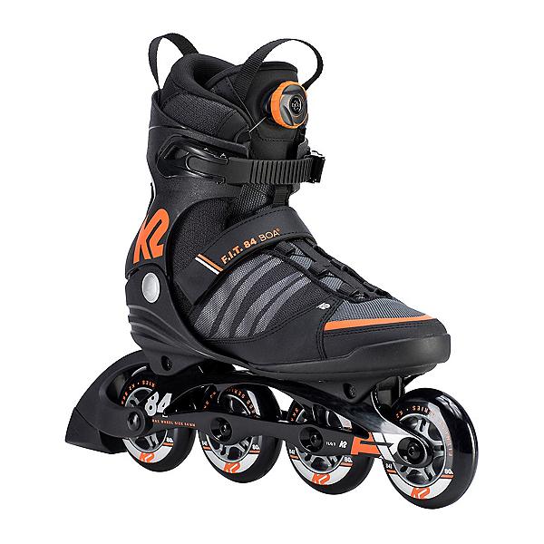 K2 F.I.T. 84 Boa Inline Skates, Black-Orange, 600