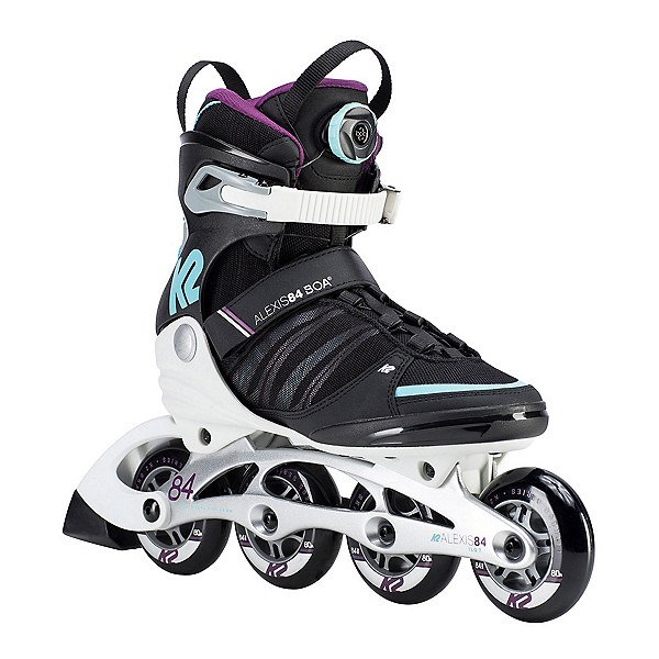 K2 Alexis 84 Boa Womens Inline Skates, Black-Purple, 600
