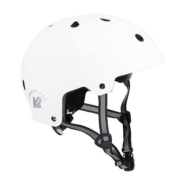 K2 Varsity Pro Mens Skate Helmet, Matte White, 600