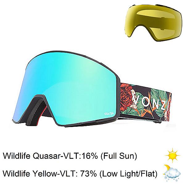 Vonzipper Capsule Goggles, Black Satin-Wild Quasar Chrome + Bonus Lens, 600