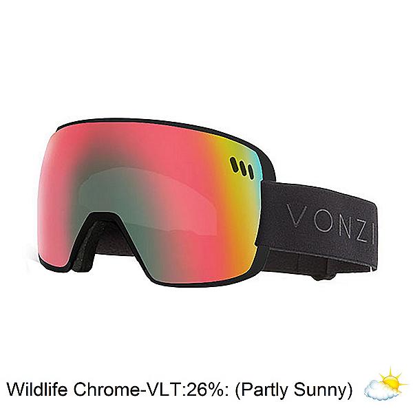 Vonzipper ALT XM Goggles, Black Satin-Wild Chrome, 600