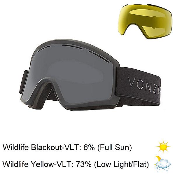 Vonzipper Cleaver Goggles, Black Satin-Wild Blackout + Bonus Lens, 600