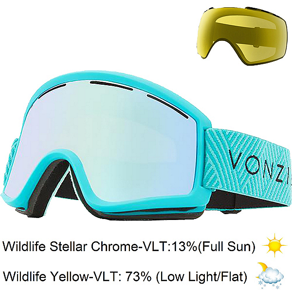 Vonzipper Cleaver Goggles 2019, Mint-Wildlife Stellar Chrome + Bonus Lens, 600