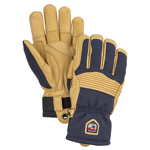 Hestra Army Leather Couloir Gloves, Navy-Tan, 600
