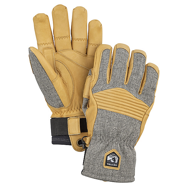 Hestra Army Leather Couloir Gloves, Light Grey-Tan, 600