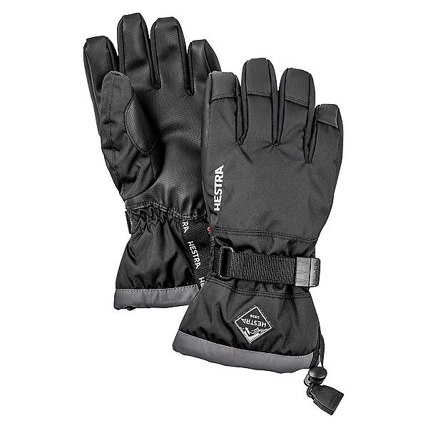 Hestra Czone Gauntlet Kids Gloves, Black-Graphite, 600