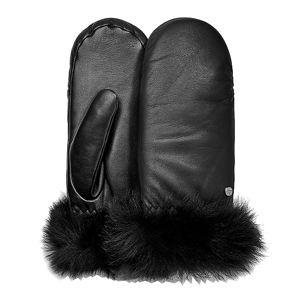 UGG Leather Womens Mitten 2019, Black, 600