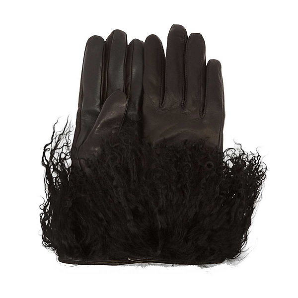 UGG Leather Mongolian Womens Gloves, , 600