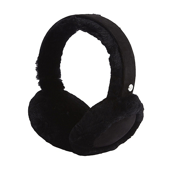 UGG Sheepskin Bluetooth Earmuff Womens Hat, Black, 600