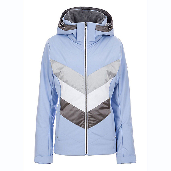 FERA Arya Womens Insulated Ski Jacket, Sky-Silver, 600