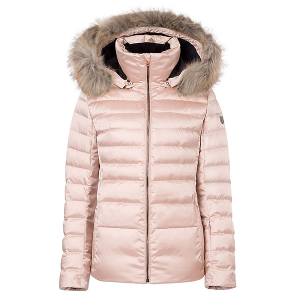 FERA Julia Special Edition - Faux Fur Womens Insulated Ski Jacket, Rose Gold, 600