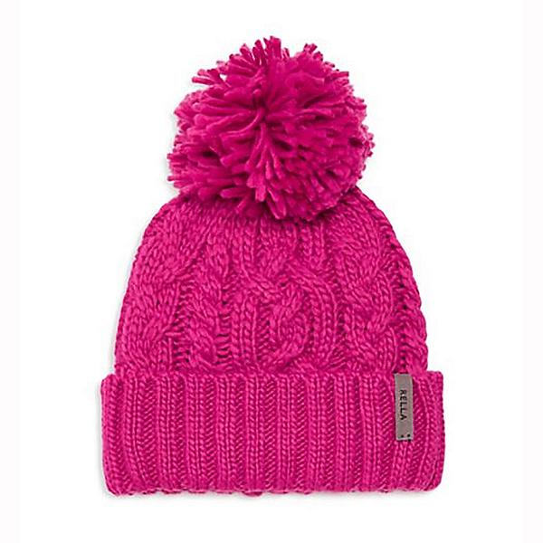 Rella Hi Rise Cuff Pom Womens Hat, Bright Rose, 600