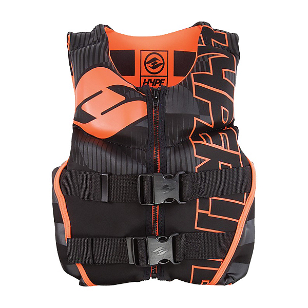 Hyperlite Youth Indie Neo Life Vest 2020, Black Orange, 600