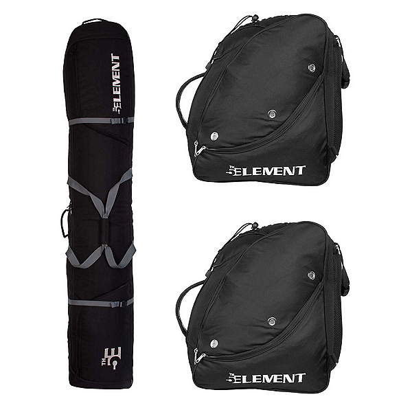 5th Element Double Travel Pack, Black-Silver, 600