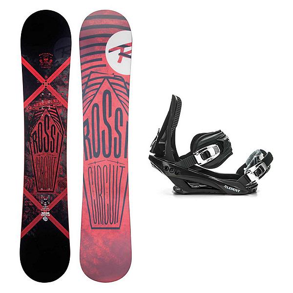 Rossignol Circuit AmpTek Wide Stealth 3 Snowboard and Binding Package, , 600