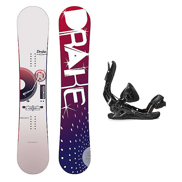 Drake Risto Pro Mutant Snowboard and Binding Package, , 600