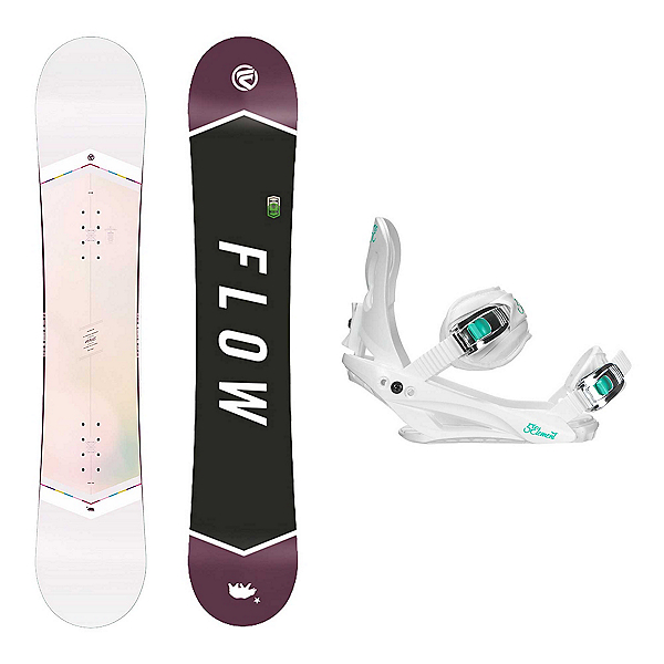 Flow Venus White Layla Womens Snowboard and Binding Package, , 600