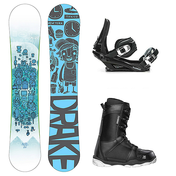 Drake Risto Pro ST-1 Complete Snowboard Package, , 600