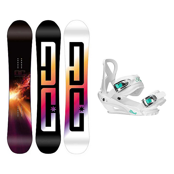 DC Ply Layla Womens Snowboard and Binding Package, , 600