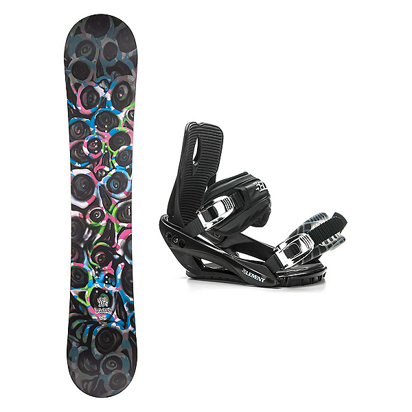 Drake DF1 Stealth 3 Snowboard and Binding Package, , 600