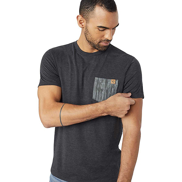 Tentree Renfrew Pocket Mens T-Shirt, Meteorite Black, 600