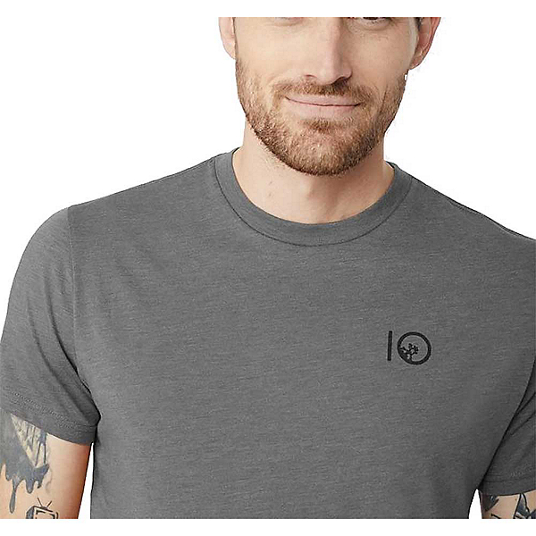Tentree Jack Mens T-Shirt, Gargoyle Grey, 600