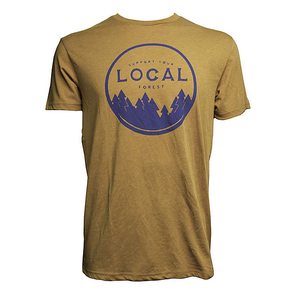 Tentree Support Your Forest Mens T-Shirt, Brown Sugar, 600