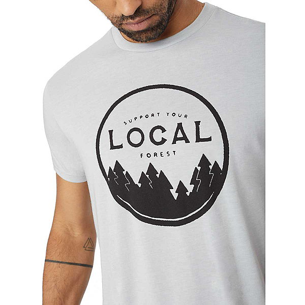 Tentree Support Your Forest Mens T-Shirt, Hi Rise Grey, 600