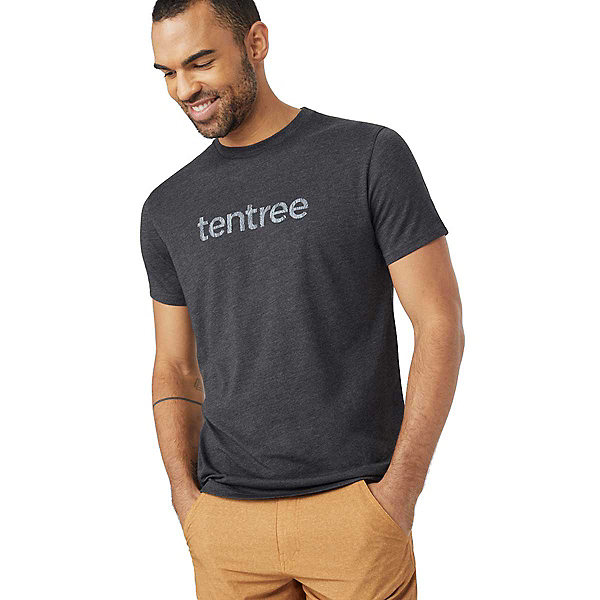 Tentree Wood Mark Mens T-Shirt, Meteorite Black, 600