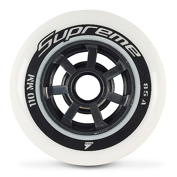 Rollerblade Supreme 110mm/85A Inline Skate Wheels - 6 Pack 2020, , 600