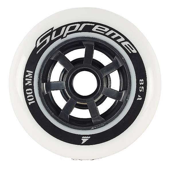 Rollerblade Supreme 100mm 85A Inline Skate Wheels - 6 Pack 2019, , 600