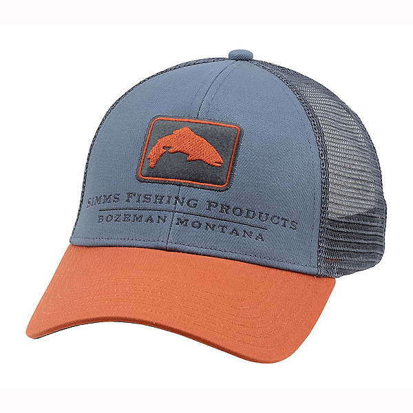 Simms Trout Icon Trucker Hat, Storm, 600