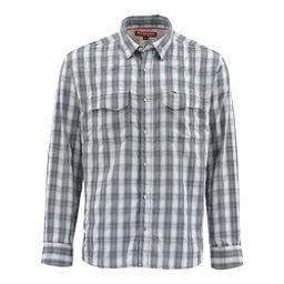 finest selection 438b8 d9523 Simms Big Sky Long Sleeve Mens Shirt, Storm Plaid, 256