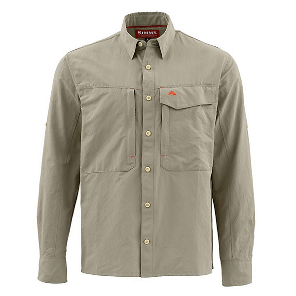 Simms Guide Long Sleeve Solid Mens Shirt, , 600