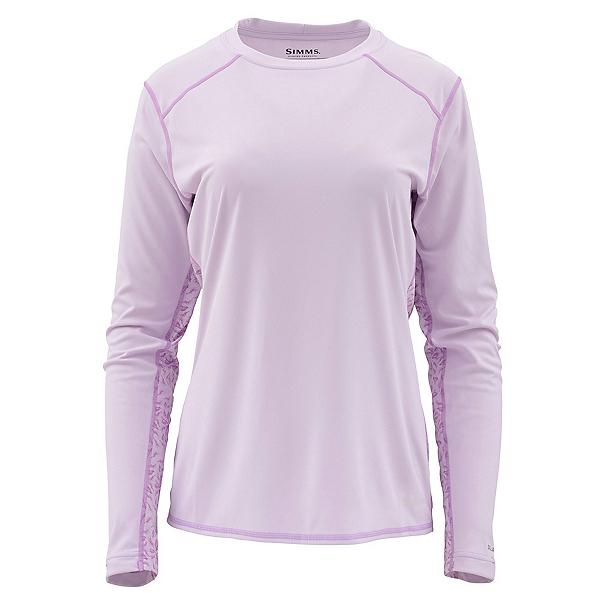 Simms Solarflex Long Sleeve Print Crew Womens Shirt, Pale Lavender, 600