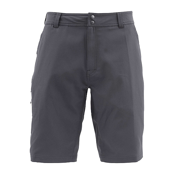 Simms Skiff Long Mens Hybrid Shorts, Black, 600