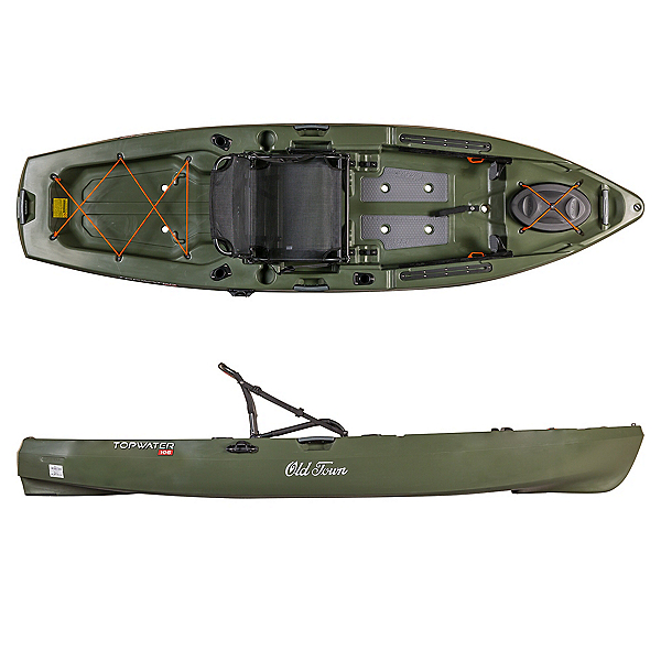 Old Town Topwater 106 Kayak 2020, Olive, 600
