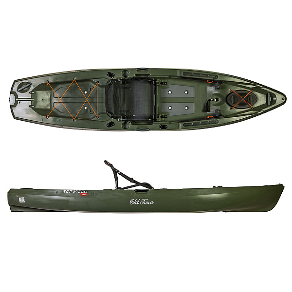 Old Town Topwater 120 Kayak 2019, Olive, 600