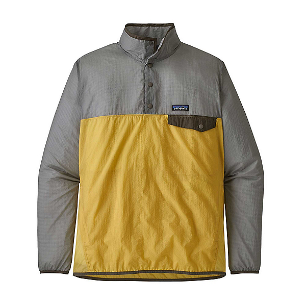 Patagonia Houdini Snap-T Pullover Mens Jacket, Surfboard Yellow, 600