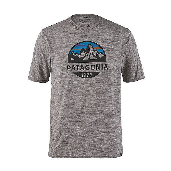 Patagonia Cap Cool Daily Graphic Mens T-Shirt, Fitz Roy Scope Feather Grey, 600