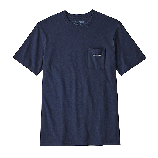 Patagonia Line Logo Ridge Pocket Responsibili-Tee Mens T-Shirt, Classic Navy, 600