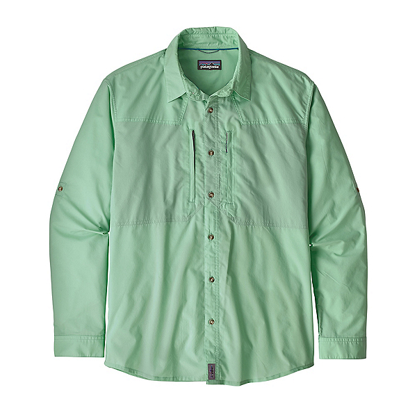 Patagonia Sun Stretch Long Sleeve Mens Shirt, Whole Weave Vjosa Green, 600
