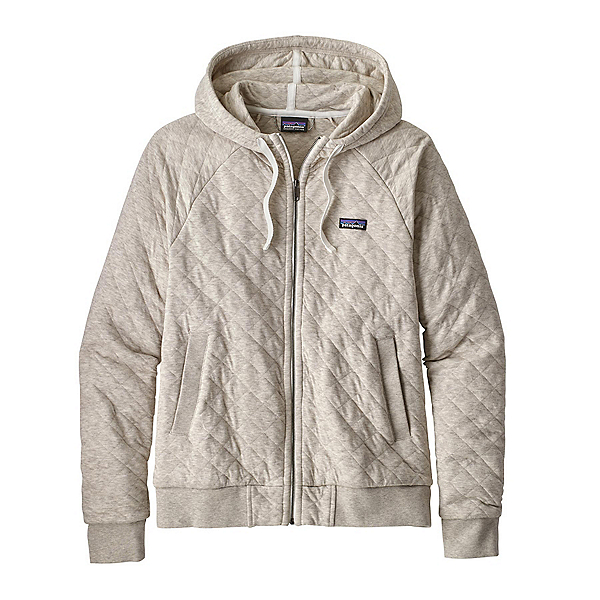 Patagonia Organic Cotton Quilt Womens Hoodie, Birch White, 600