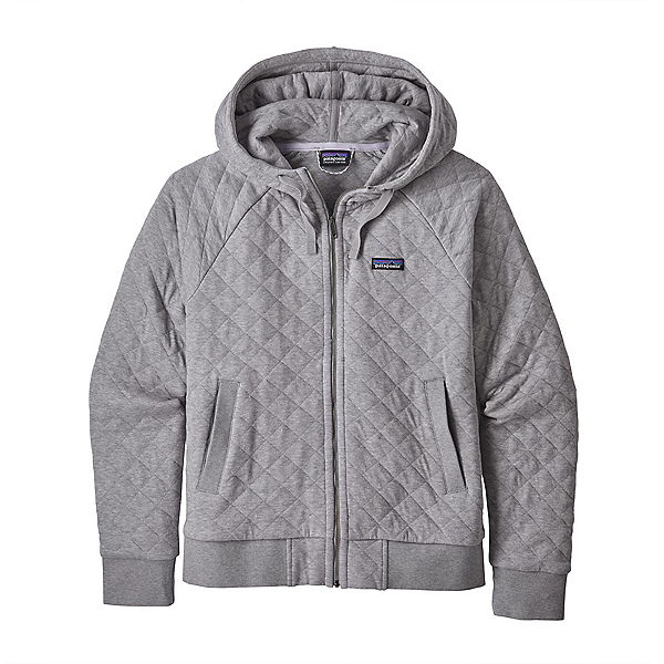 Patagonia Organic Cotton Quilt Womens Hoodie, Drifter Grey, 600