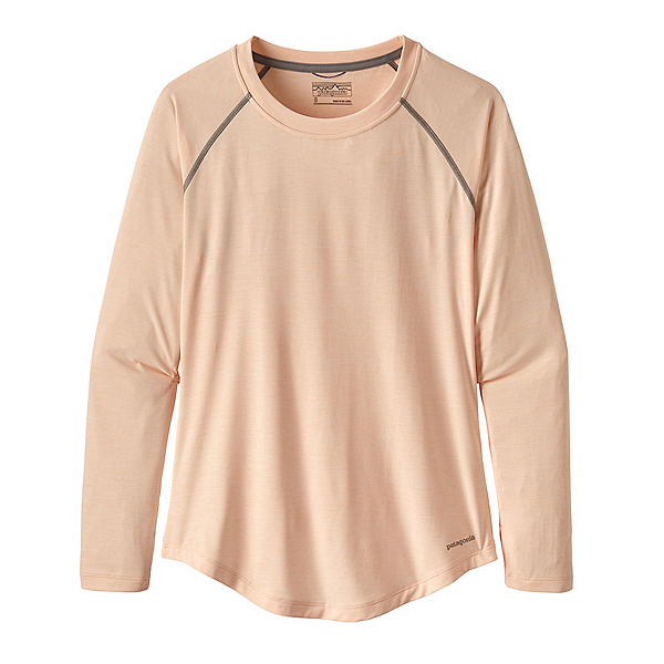 Patagonia Tropic Comfort Crew Womens Shirt, Landscape Trout Light Peach Sh, 600