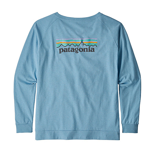 Patagonia Pastel P-6 Logo Responsibili-Tee Long Sleeve Womens Shirt, Break Up Blue, 600
