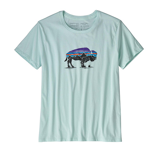Patagonia Fitz Roy Bison Crew Womens T-Shirt, , 600