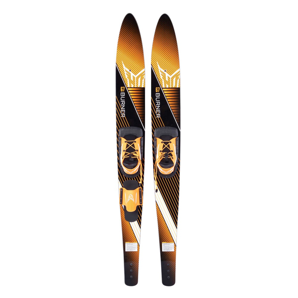 HO Sports Burner Combo Water Skis With Blaze Bindings 2020 im test